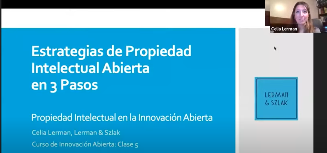 Celia Lerman Speaks about Open Intellectual Property Strategies at the Ministry of Productive Development of Argentina's Open Innovation Online Course