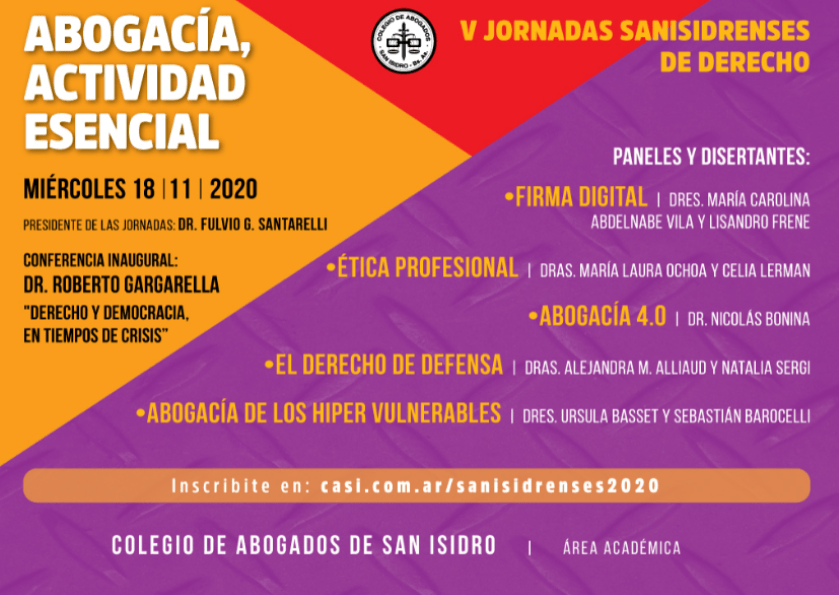 Celia Lerman will lecture on legal ethics and artificial intelligence at the fifth edition of the Jornadas Sanisidrenses de Derecho