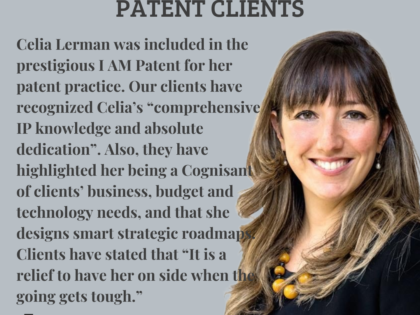 Celia Lerman was included in the prestigious I AM Patent for her patent practice