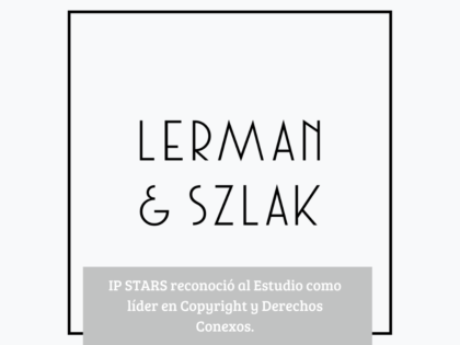 IP STARS reconoce a Lerman & Szlak como firma líder en propiedad intelectual