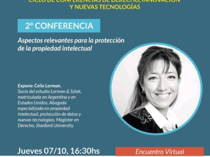 Celia Lerman lectured on intellectual property for startups